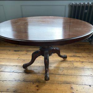 Victorian Oval Mahogany Dining Table