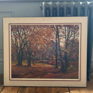 Oil Painting of an Autumnal Scene
