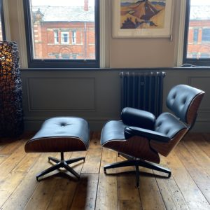 Eames inspired Housemaster lounger and stool