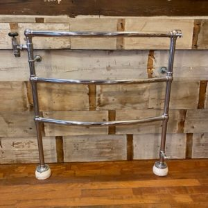 Victorian Curved Chrome towel rail