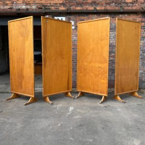 Mid Century Oak and Ply Screens.